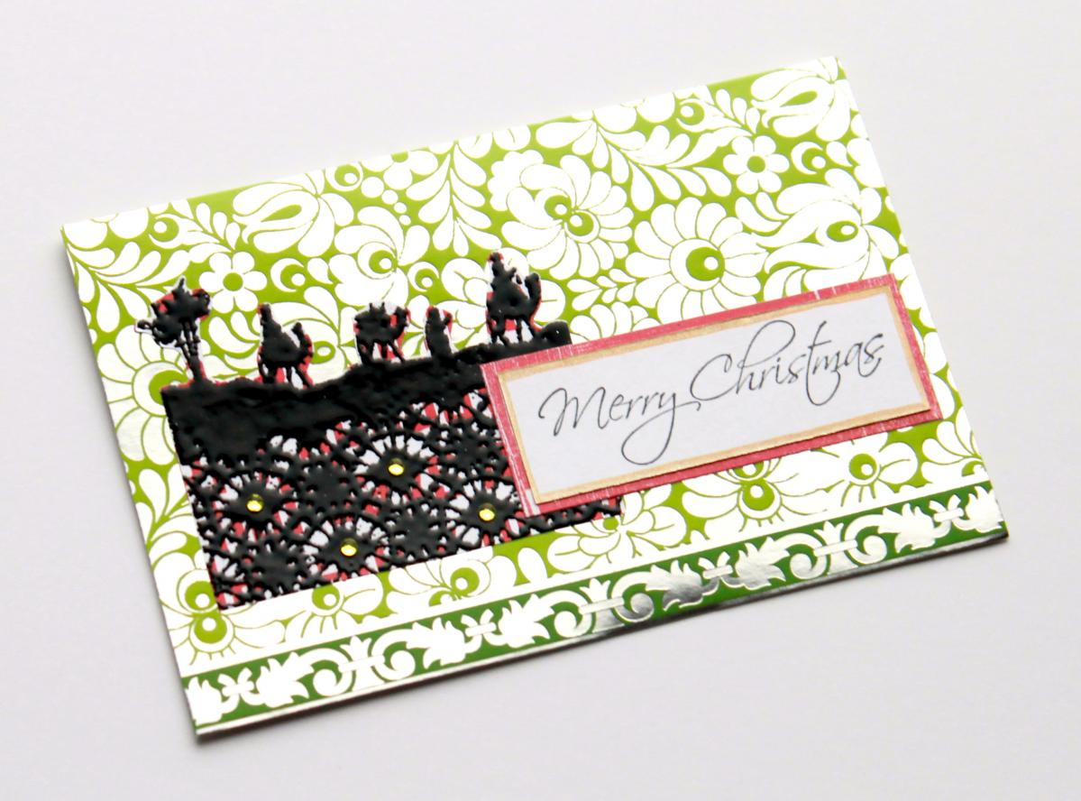 Altered Christmas Card by The Leaf Studio. FREE shipping