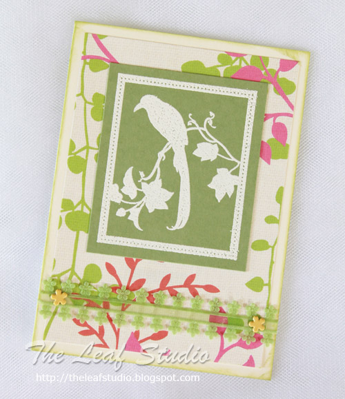 Bird on Branch Handmade Greeting Card (Blank Inside) by The Leaf Studio. FREE shipping.