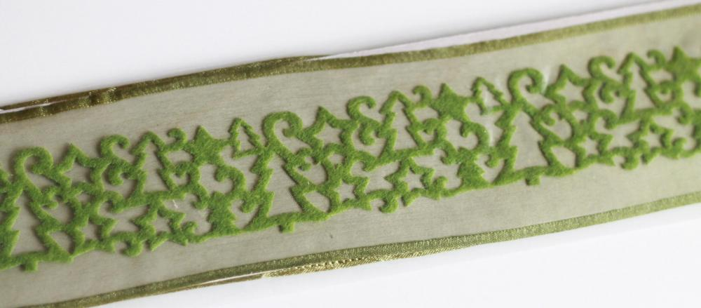 Green Felt Stars & Tree Ribbon. FREE shipping
