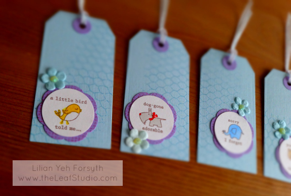 Creatures Tag Set (set of 4) by The Leaf Studio. FREE shipping