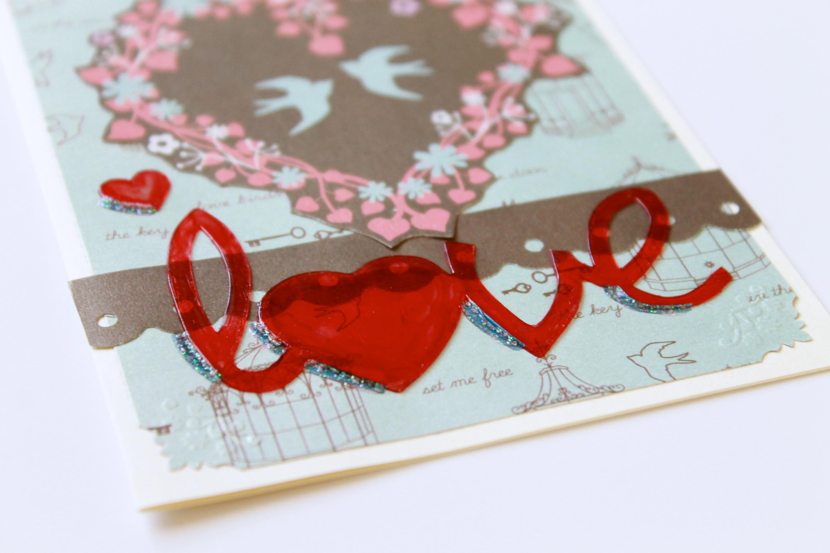 Love Birds Handmade Greeting Card Blank Inside By The Leaf Studio